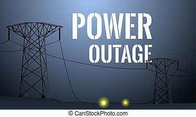 Power outage illustration, blackout concept - Power outage ...
