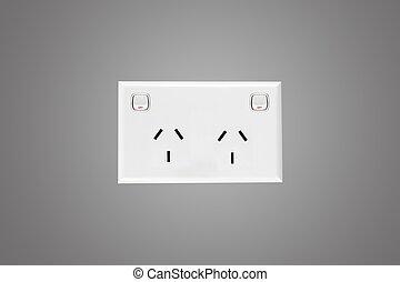 Power Outlet - A close up shot of an Australian power outlet