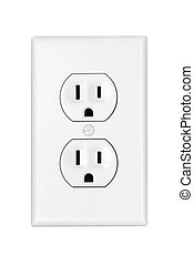 Power outlet - An American 110 volt three prong electrical ...