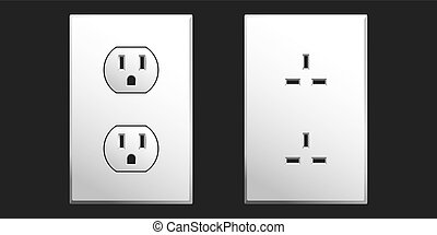 Power Outlet - Power outlet in two different styles used in...