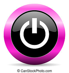 power pink glossy icon