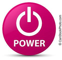 Power pink round button