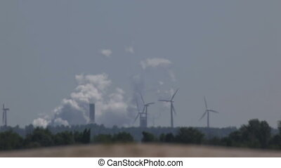 Power plant and wind turbines