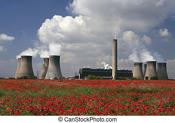 Power Plant - Cheshire - England - A coal-fired power plant...