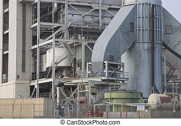Power Plant Detail - A close view of power plant machinery.