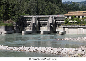 Power plant - Hydro power plant on Salzach river in...