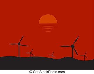 Power plant, illustration, vector on white background.