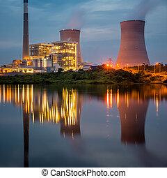 Power Plant Panorama at jiangxi china.