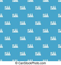 Power plant pattern seamless blue