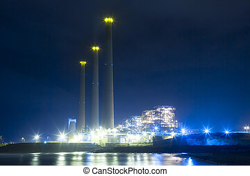 Power Plant - Power plant at night