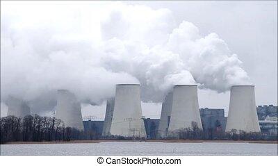 power plant in timelapse