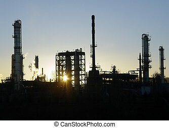 Power Plant - Sunset at the power plant