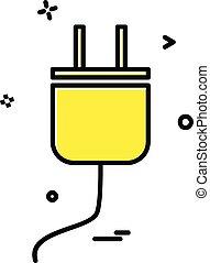 power Plug icon design vector