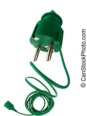 Power plug with power cord - A power connector and a power...