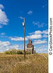 Power Pole and Grain Elevator