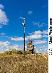 Power Pole and Grain Elevator