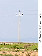 power poles in the desert