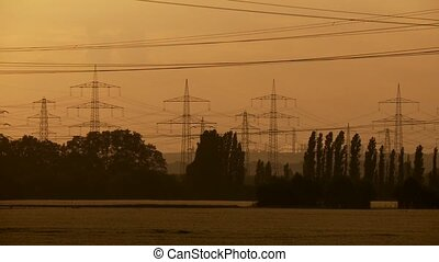 Power Poles, Sunset