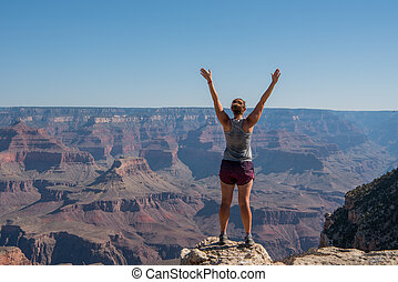 Power Posing on the Rim of the Grand Canyon