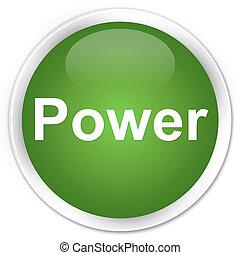 Power premium soft green round button