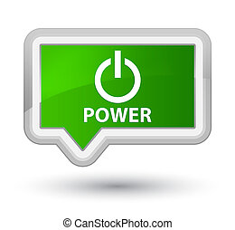 Power prime green banner button
