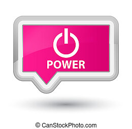 Power prime pink banner button