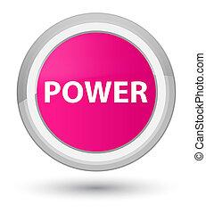 Power prime pink round button