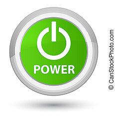 Power prime soft green round button