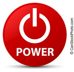 Power red round button