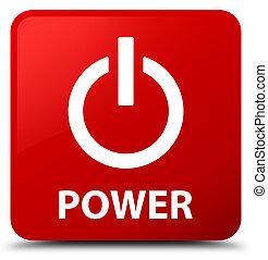 Power red square button