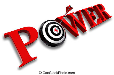 power red word and conceptual target