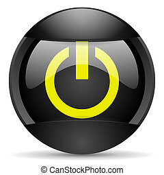 power round black web icon on white background