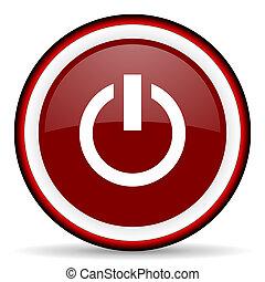 power round glossy icon, modern design web element