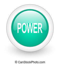 power round glossy web icon on white background