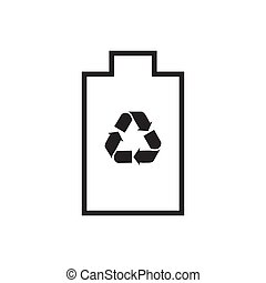 power save icon. recycle vector design illustration.