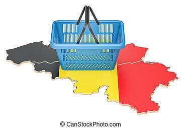 Belgie Kaart Verlichting 3d Rendering Relief Kaart
