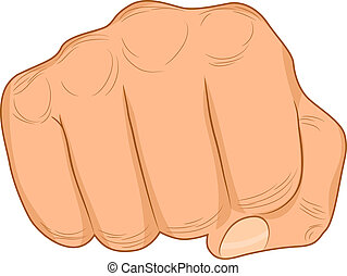 Power sign. - Strong male fist. Vector illustration.