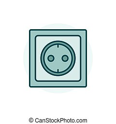 Power socket colorful icon