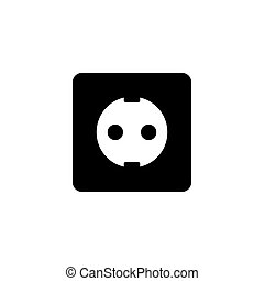 Power Socket Flat Vector Icon