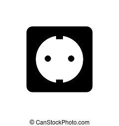 Power socket icon. Vector