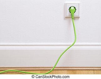 Power socket with plug