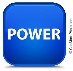 Power special blue square button