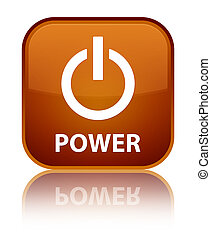 Power special brown square button
