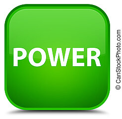 Power special green square button