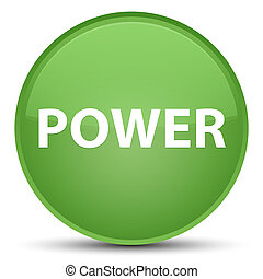 Power special soft green round button