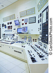 Power Station Control Room - The control room of a power ...