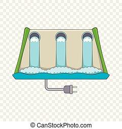 Power station icon, cartoon style