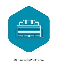 Power station icon, outline style