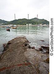 Power station in Lamma Island, Hong Kong.