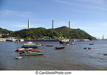 Power station in Lamma Island, Hong Kong.